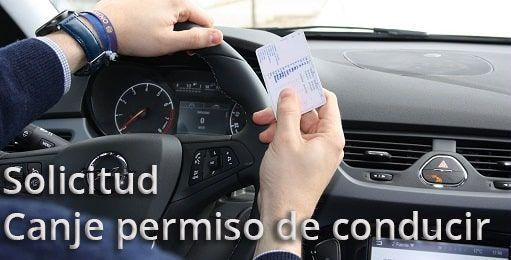 canje permiso de conducir