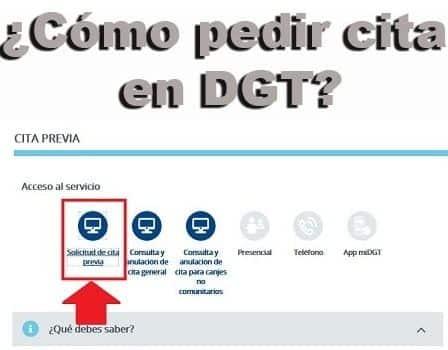 Cómo solicitar cita en DGT