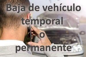 baja de vehículo temporal